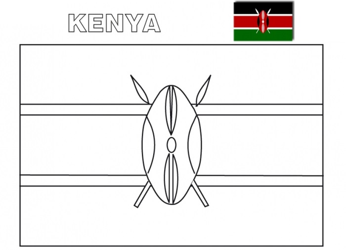 The Geography Blog: Kenya Flag Coloring Page