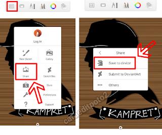 Aplikasi siluet wajah android