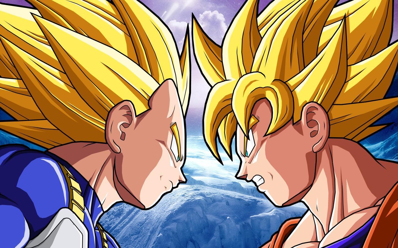 Imagenes De Dragon Ball Z Wallpaper Vegeta Ssj2 Vs Goku Ssj2