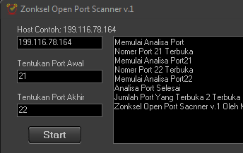 Zonksel Open Port Scanner v.1