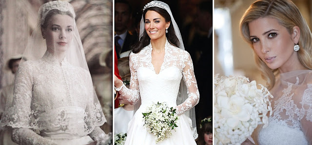 sheer covered with sleeve wedding gown