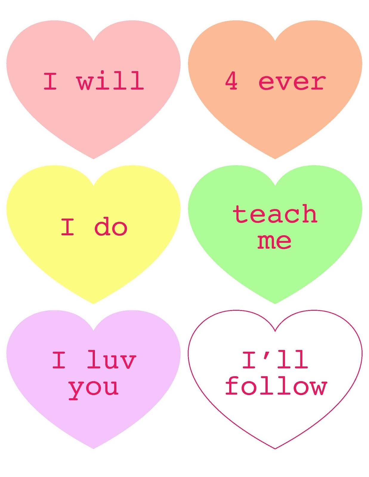 singing time valentines day conversation hearts - Singing Valentine