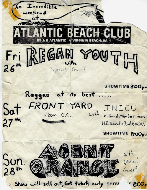 Old Band Flyers - 05 - Atlantic Beach Club - Agent Orange, Reagan Youth