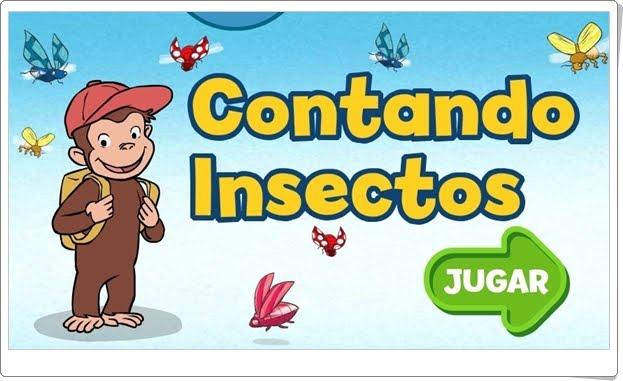 """""""Contando insectos con George"""" (Juego de comparación de cantidades de Infantil)"""