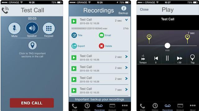 تحميل تطبيق تسجيل المكالمات Call Recorder للأيفون مخفي كامل