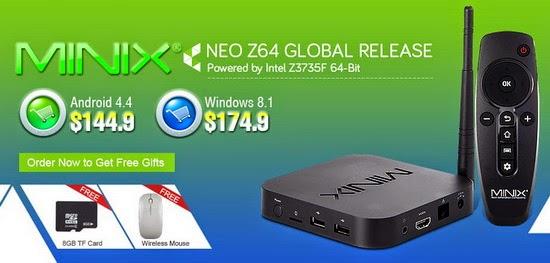 The Minix NEO Z64 Intel TV Box goes now on sale