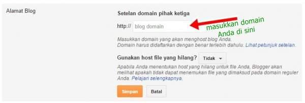 mengganti domain di blogspot menjadi .com