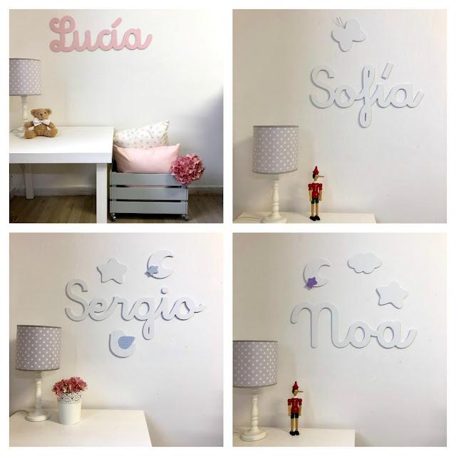 nombres de niños y niñas para la pared -decoración infantil personalizada