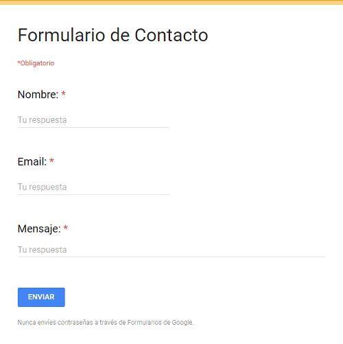 formulario de contacto para blogs