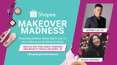Celebrity stylist Myrrh Lao To and beauty vlogger Raiza Contawi transform 3 lucky winners for the Shopee Makeover Madness