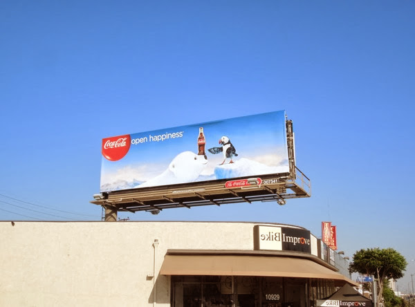 CocaCola Open Happiness 2013 billboard
