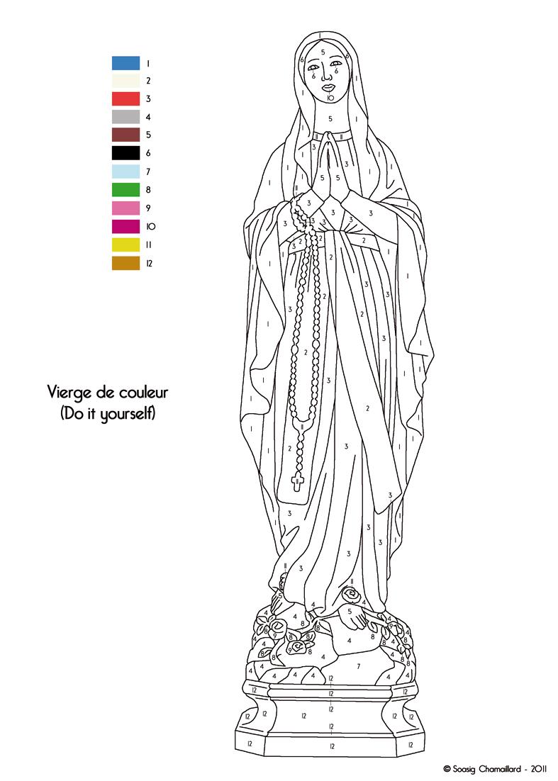 Vierge Marie Coloriage Coloriage Sainte Vierge Marie