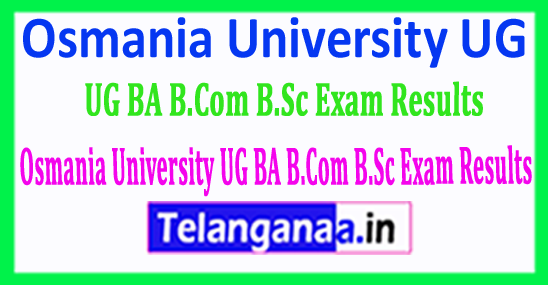 Osmania University UG BA B.Com B.Sc Exam Results 2018 Download