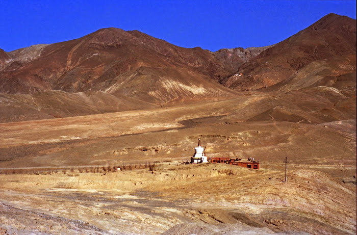 Tibet, Gyantse, stupa, fortifications, © L. Gigout, 1990