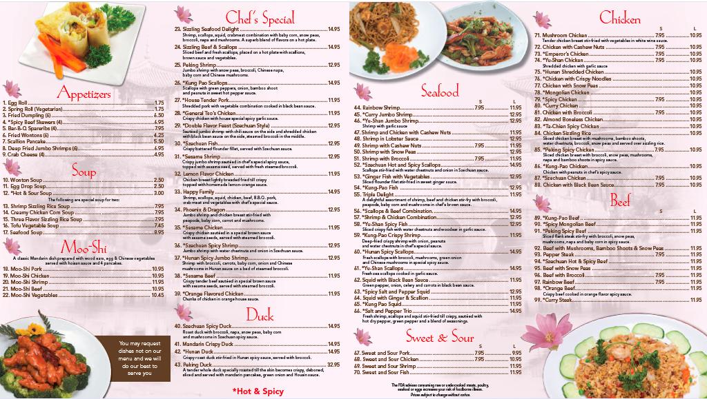 China Gate Restaurant Menu