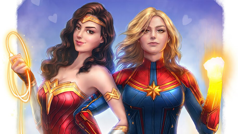 Captain Marvel, Wonder Woman, 4K, #6.403