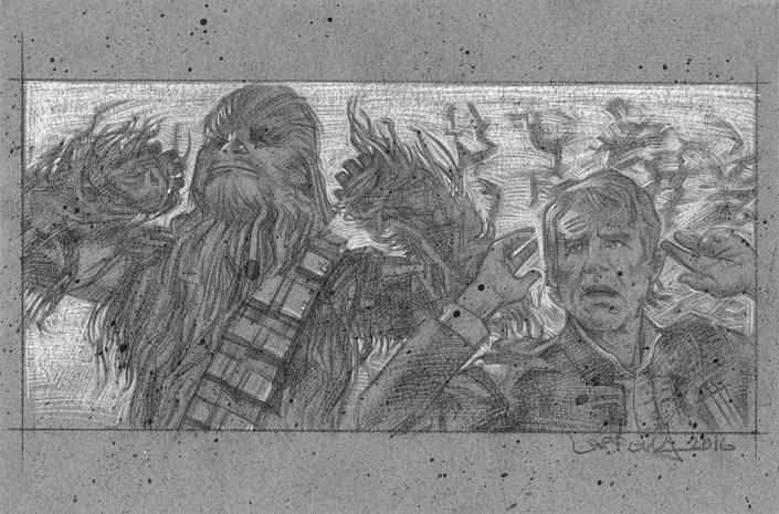 Han Solo and Chewbacca artwork © JEFF LAFFERTY 2016