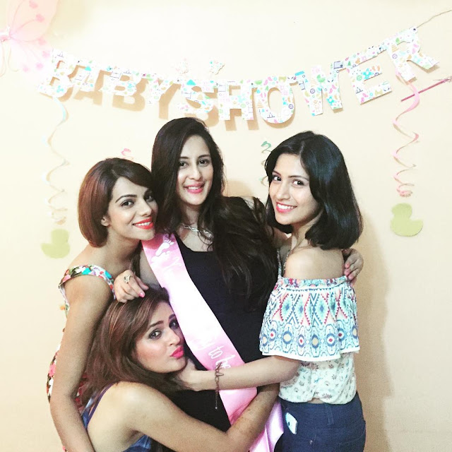 TV Actress Chahatt Khanna's baby shower photos