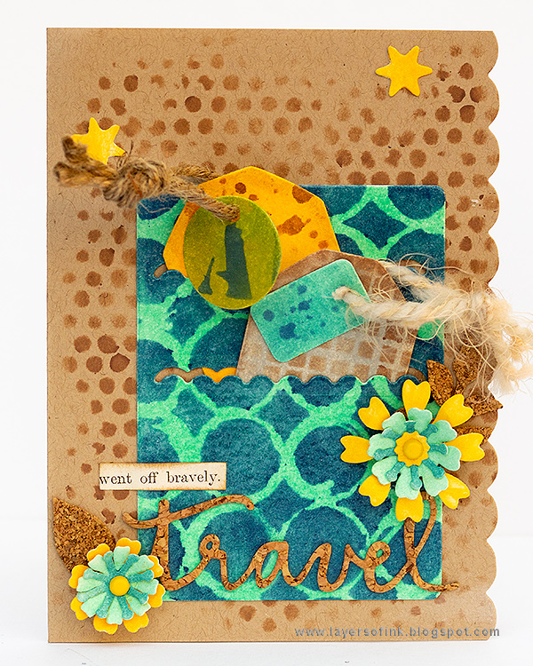 Layers of ink - Inky Stencil Card Tutorial by Anna-Karin Evaldsson with Sizzix Book Club dies by Eileen Hull and Colorbox Blends inks.
