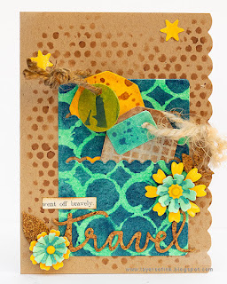 Layers of ink - Stenciled Card Tutorial by Anna-Karin Evaldsson