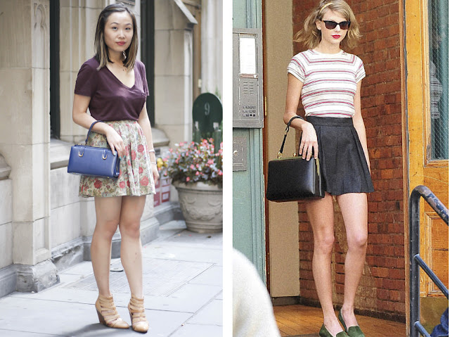 How to Dress like Taylor Skirt T-shirt and Skirt