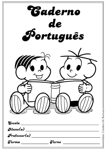 Capas para Caderno Turma da Mônica