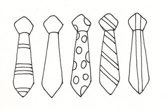 necktie template bowtie clipart printable frames illustrations hd