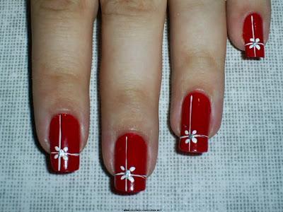 Uñas decoradas rojas