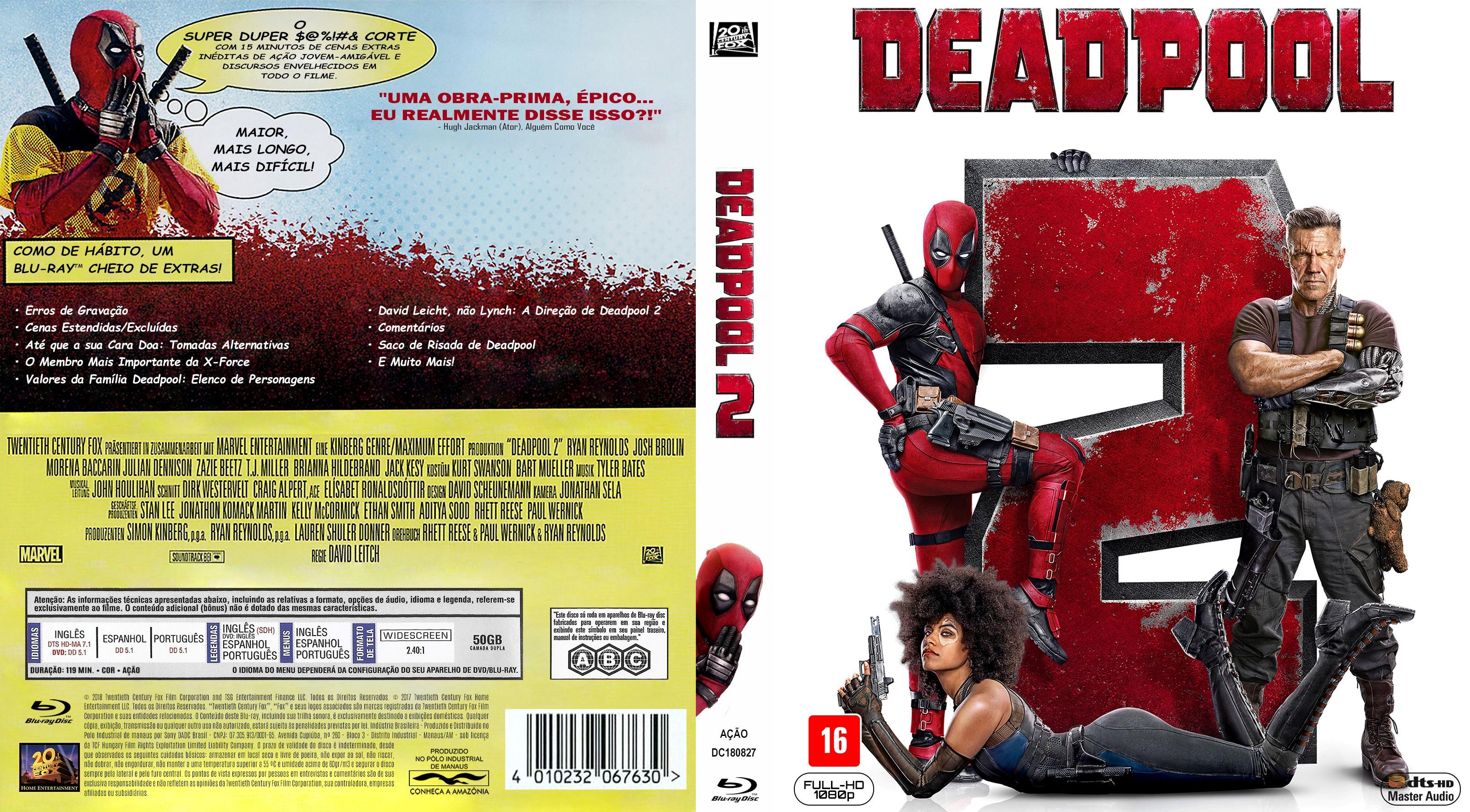 Deadpool 2 Blu Ray Capa Dvd Capas