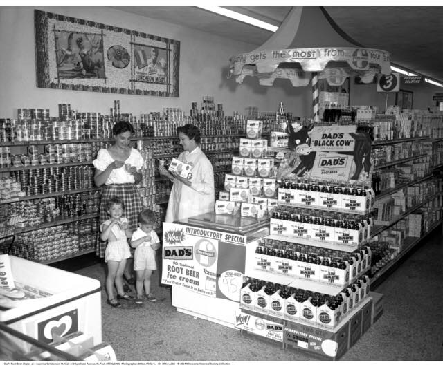 Root Beer Display, St. Paul, 1960