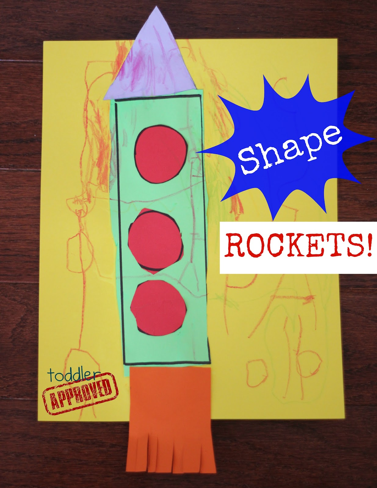 Toddler Approved Shape Rockets Back To School Basics