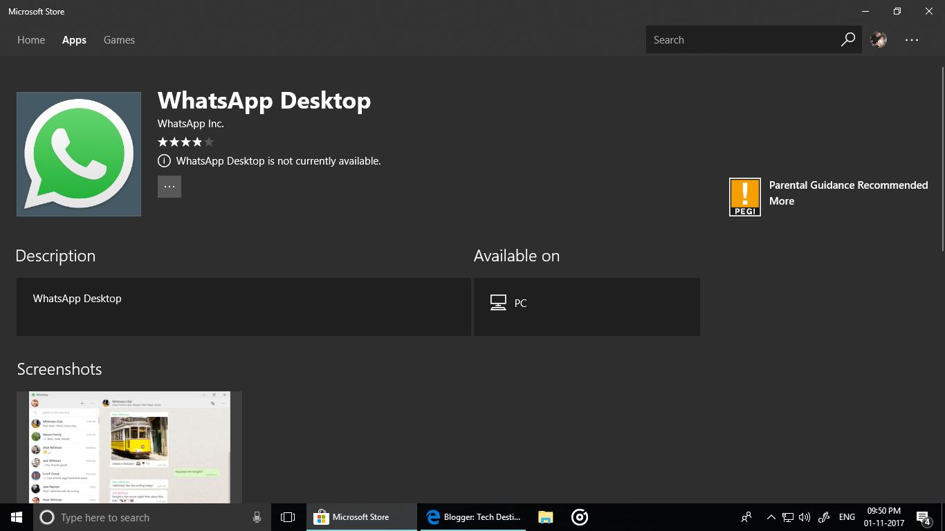 Whatsapp for windows 10 pc