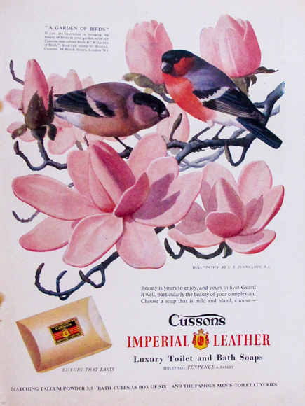 Cussons Imperial Leather. Woman and Home March 1956