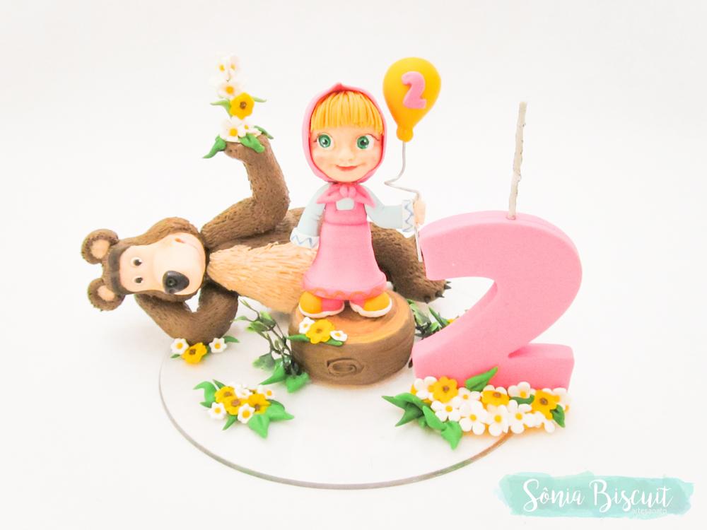 Topo de Bolo, Biscuit, Sonia Biscuit, Masha e o Urso, Macha e o Urso, Masha, Macha, Urso