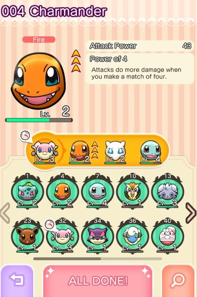 Pokemon Shuffle Creature Types - Strengths and Weaknesses