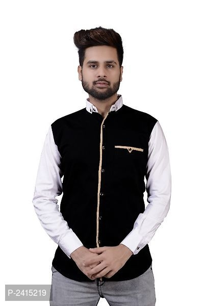 Rehan Black And White Party Wear Shirts