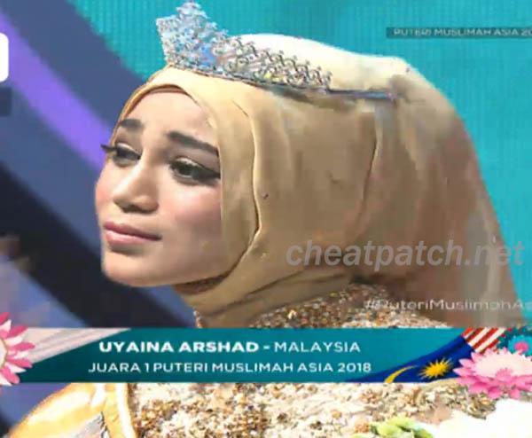 Uyaina Arshad pemenang putri Muslimah asia 2018