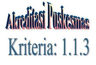 Akreditasi Puskesmas : Kriteria 1.1.3