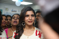 Samantha Ruth Prabhu Smiling Beauty in White Dress Launches VCare Clinic 15 June 2017 054.JPG