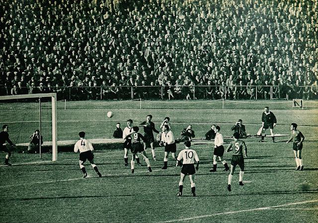 Alemania Federal y Chile en partido amistoso, 23 de marzo de 1960