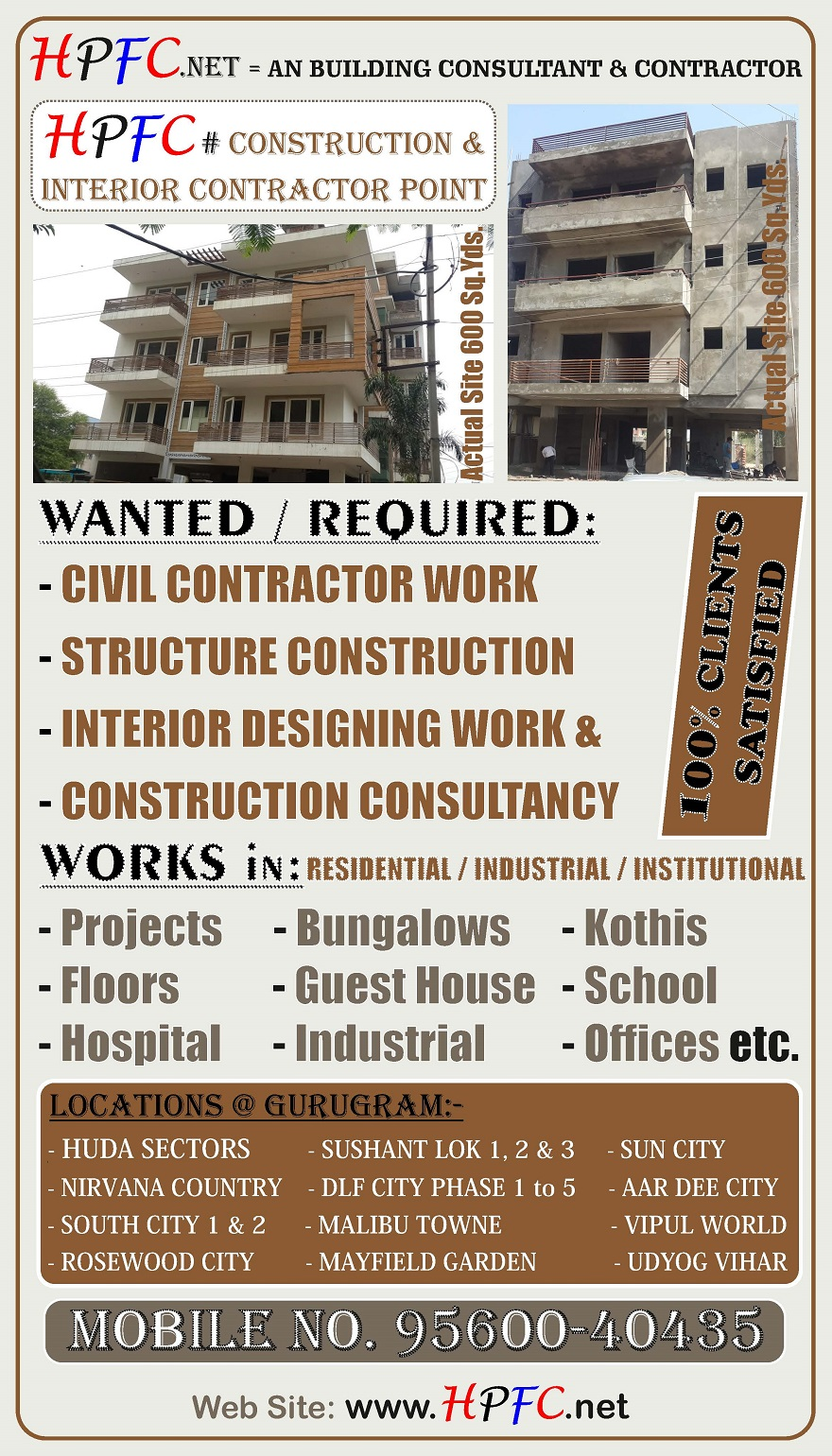 Civil Construction & Interior Work in Gurugram (Gurgaon)