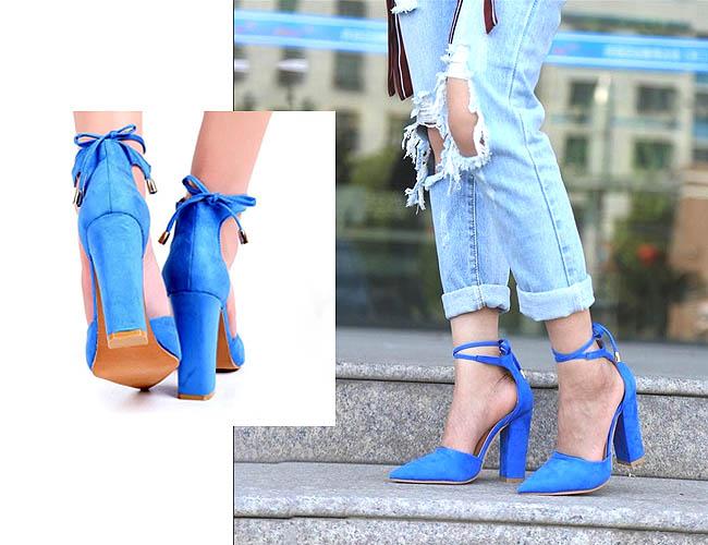 High heels model chunky yang tampil funky