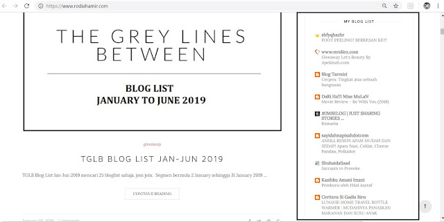 Blog list wish