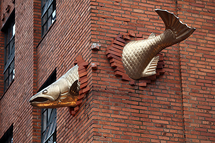 42 Of The Most Beautiful Sculptures In The World - Salmon Sculpture, Portland, Oregon, Us
