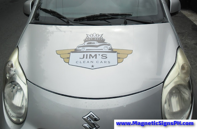 Die Cut Magnetic Sign - Jim's Clean Cars