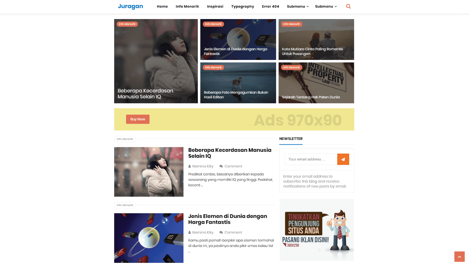 NewsPro Premium Blogger Template