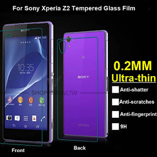 Quality Front Back Tempered Glass Protector Protective Flim For Sony Xperia