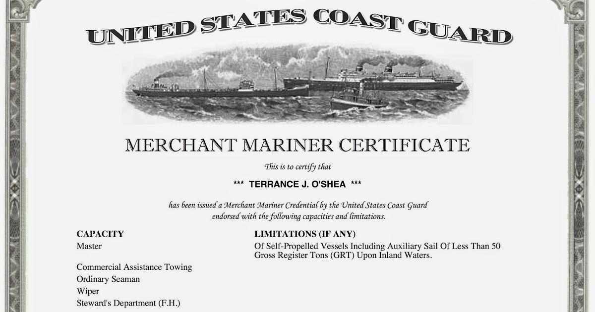 S V Carolmarie U S C G Captain S License How Long And