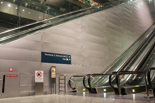 eskalator bandara changi