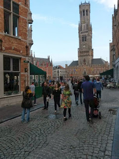 Belfort tower from Markt in Bruges